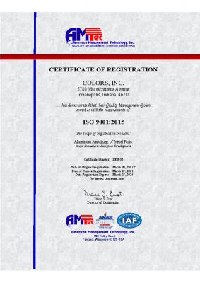 ISO Cert 2021